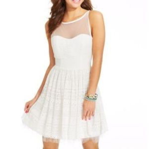 Crystal Doll women's lace cocktail dress